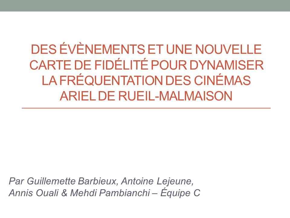 des évènements et une nouvelle carte de fidélité pour dynamiser la fréquentation des cinémas Ariel de Rueil-Malmaison