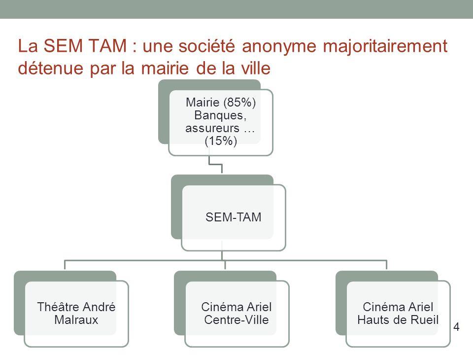 La SEM TAM : une société anonyme majoritairement détenue par la mairie de la ville