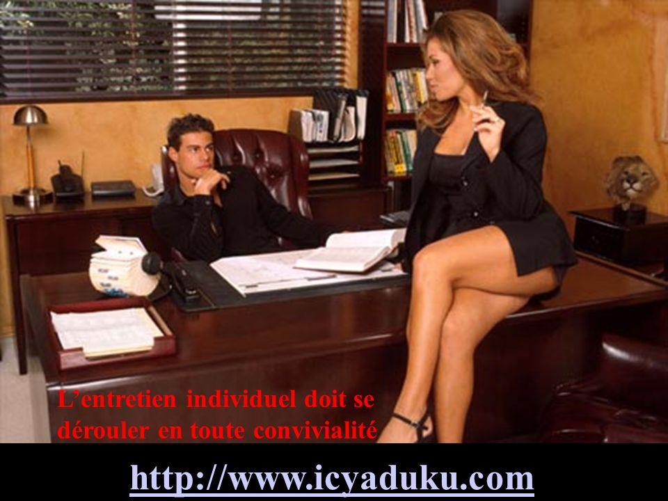 L'entretien individuel doit se dérouler en toute convivialité