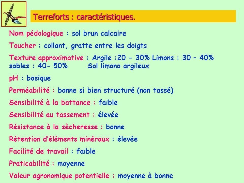 Terreforts : caractéristiques.