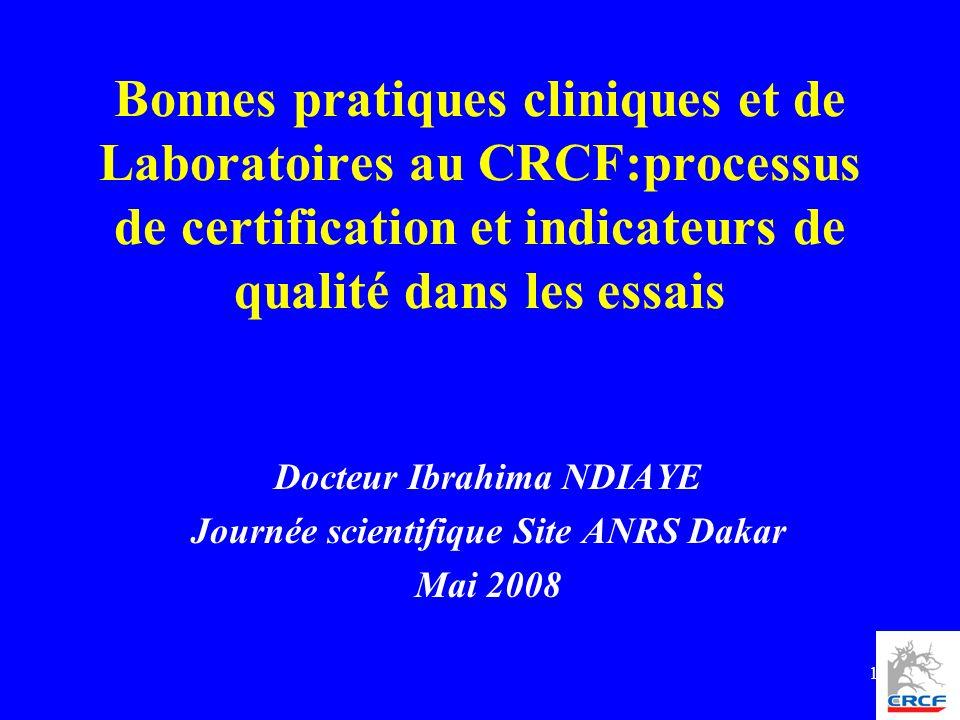 Docteur Ibrahima NDIAYE Journée scientifique Site ANRS Dakar Mai 2008