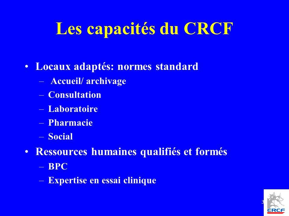 Les capacités du CRCF Locaux adaptés: normes standard