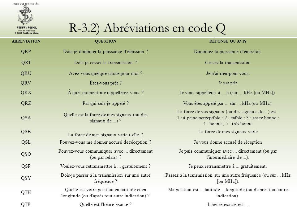 R glementation chapitre 3 alphabet international et code q - Longtemps je me suis couche de bonne heure ...