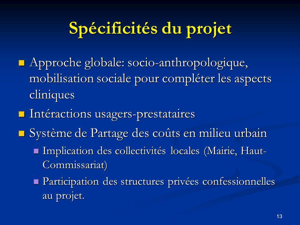 Spécificités du projet