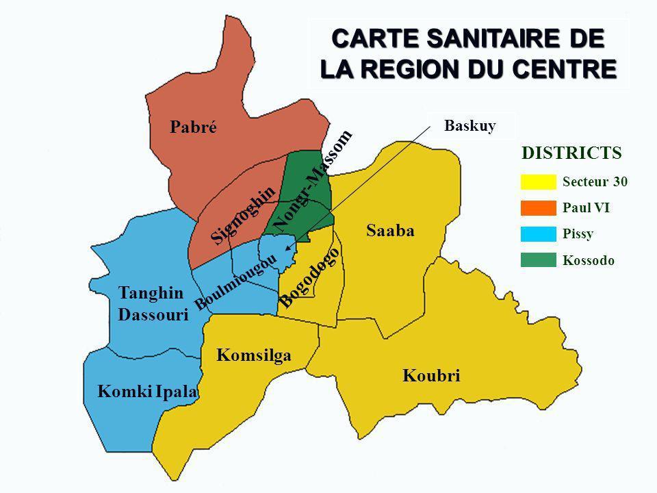 CARTE SANITAIRE DE LA REGION DU CENTRE