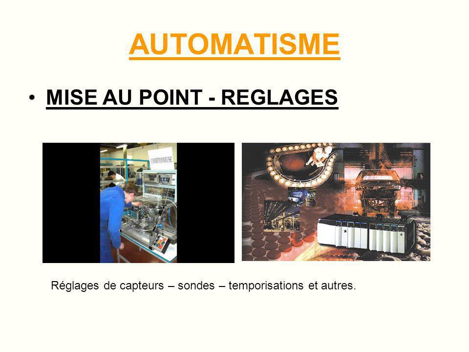 AUTOMATISME MISE AU POINT - REGLAGES