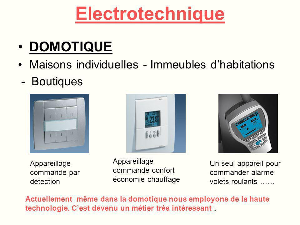 Electrotechnique DOMOTIQUE