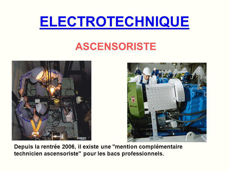 ELECTROTECHNIQUE ASCENSORISTE