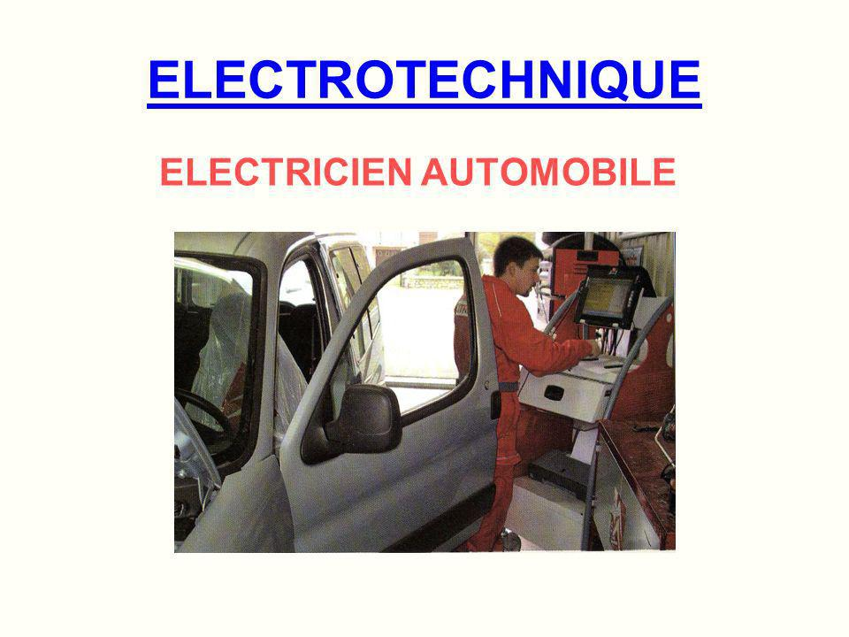 ELECTROTECHNIQUE ELECTRICIEN AUTOMOBILE