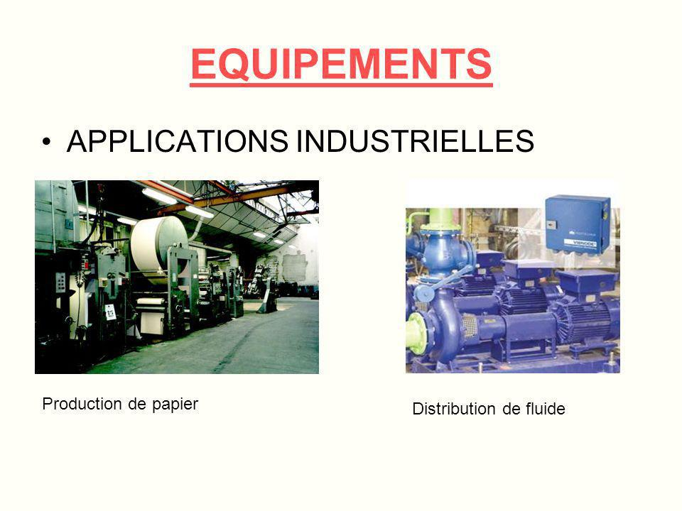 EQUIPEMENTS APPLICATIONS INDUSTRIELLES Production de papier
