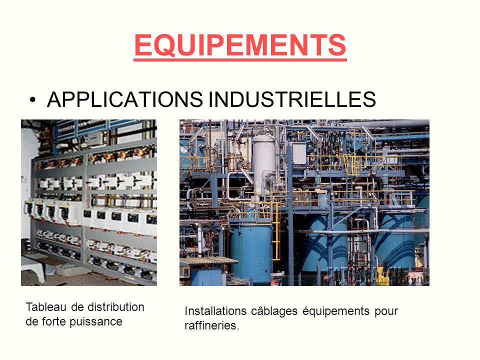 EQUIPEMENTS APPLICATIONS INDUSTRIELLES