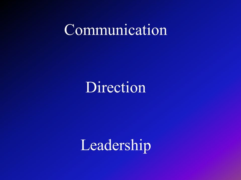 Communication Direction Leadership