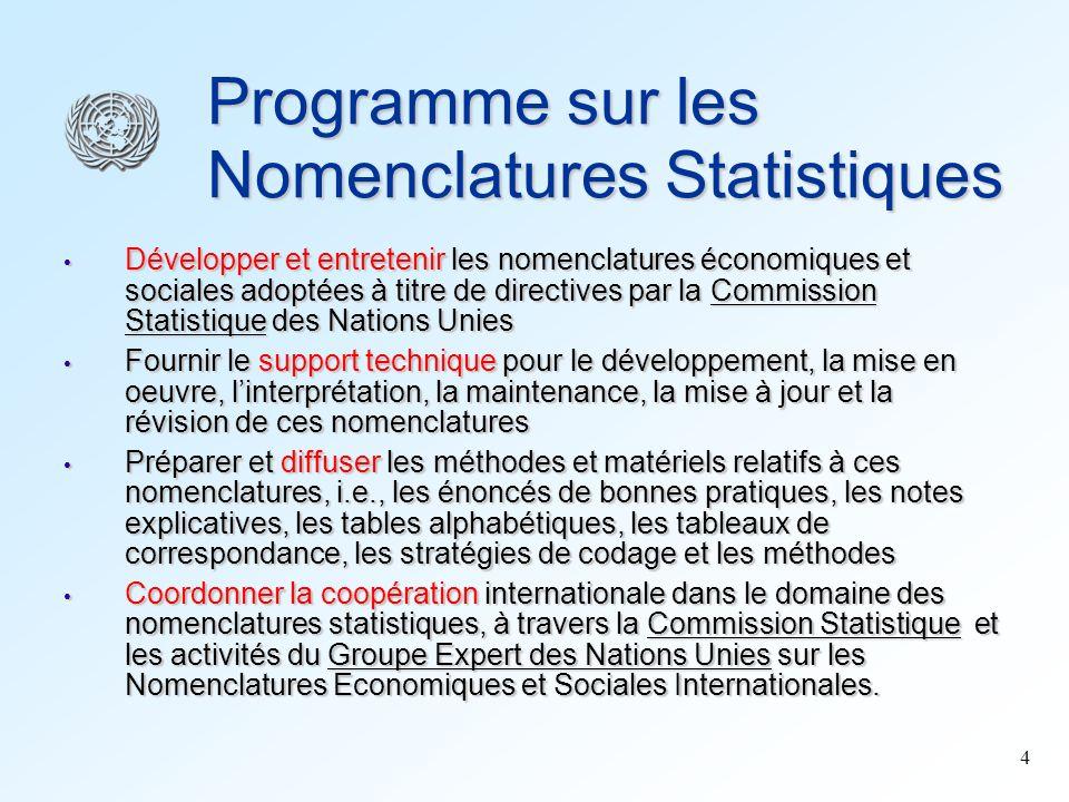 Programme sur les Nomenclatures Statistiques