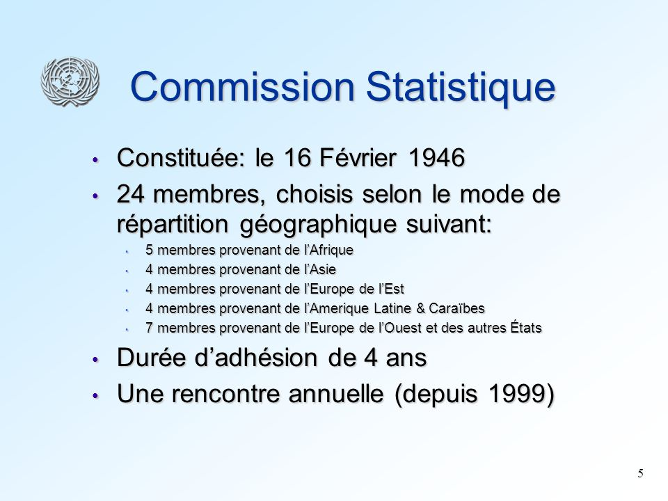 Commission Statistique