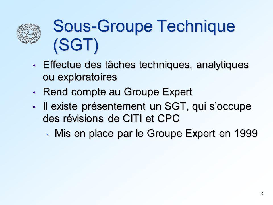 Sous-Groupe Technique (SGT)