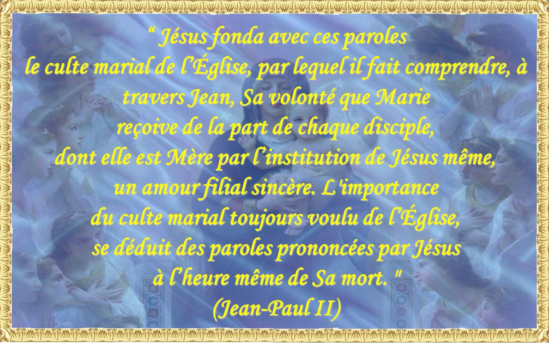Jésus fonda avec ces paroles
