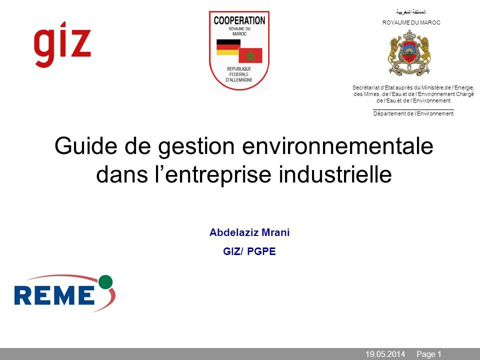 Guide de gestion environnementale dans l'entreprise industrielle