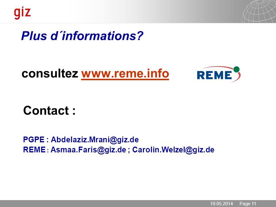 consultez www.reme.info