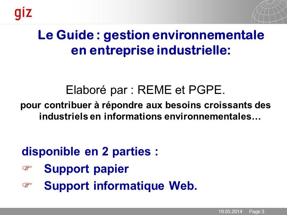 Le Guide : gestion environnementale en entreprise industrielle:
