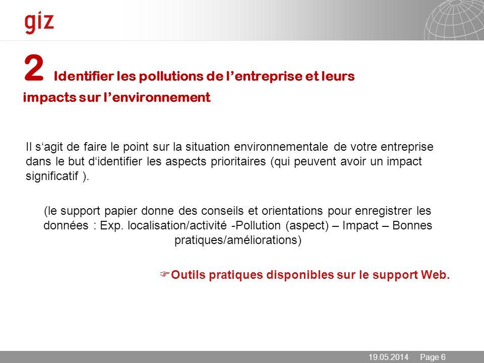 2 Identifier les pollutions de l'entreprise et leurs impacts sur l'environnement