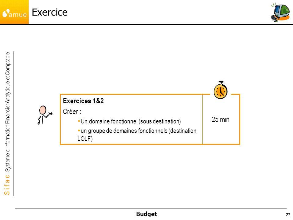 Exercice Exercices 1&2 Créer : 25 min