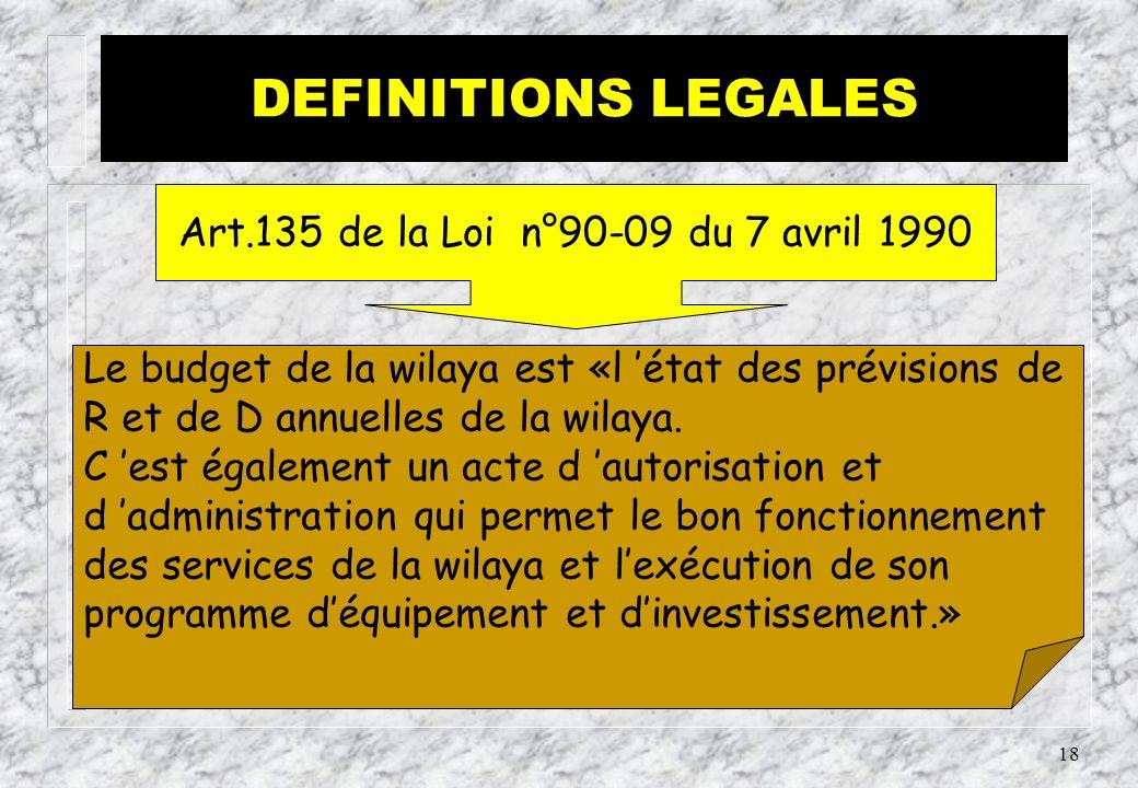 Art.135 de la Loi n°90-09 du 7 avril 1990