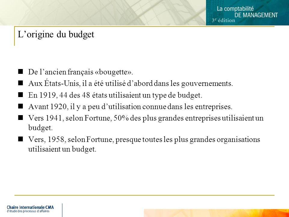 L'origine du budget De l'ancien français «bougette».