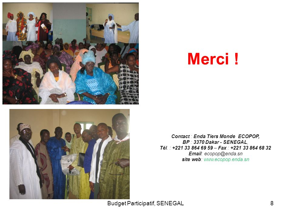 Merci ! Budget Participatif, SENEGAL