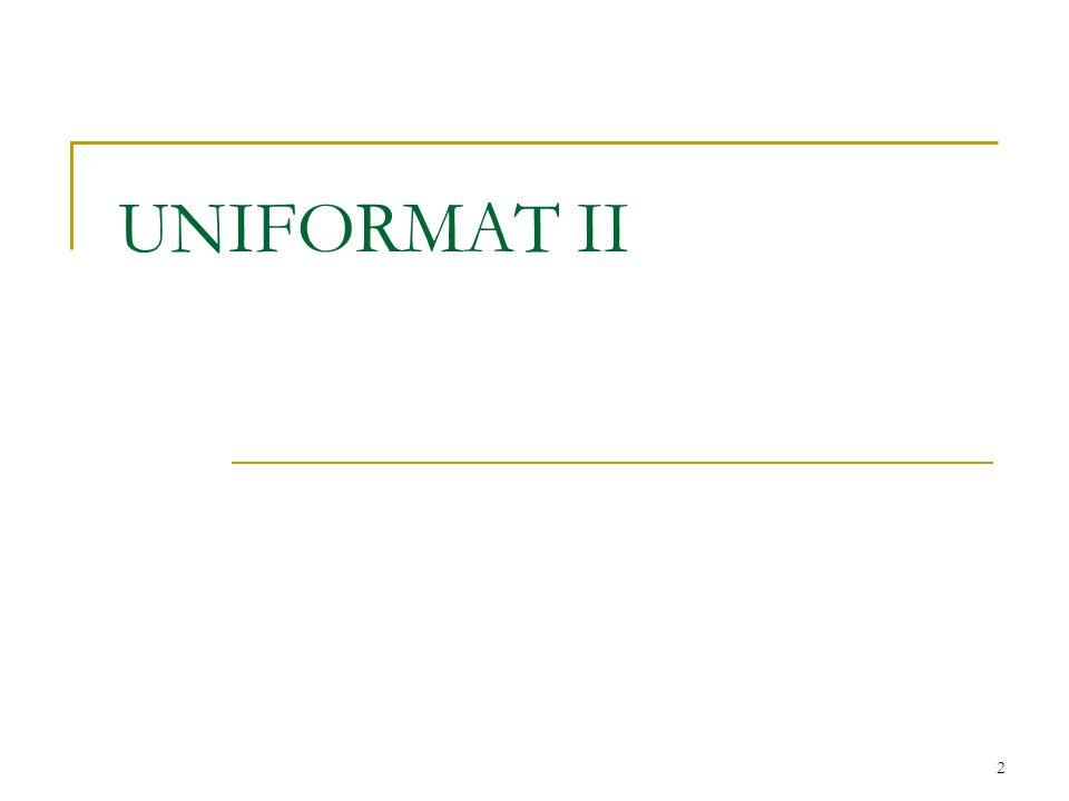 UNIFORMAT II