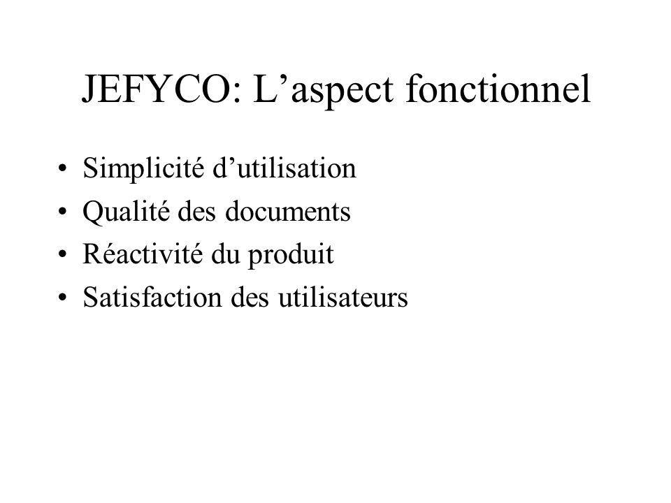 JEFYCO: L'aspect fonctionnel