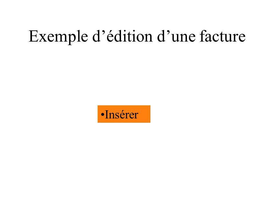 Exemple d'édition d'une facture