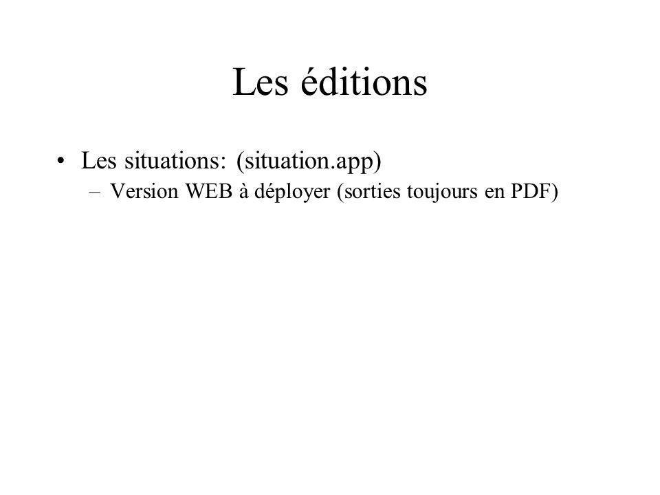 Les éditions Les situations: (situation.app)