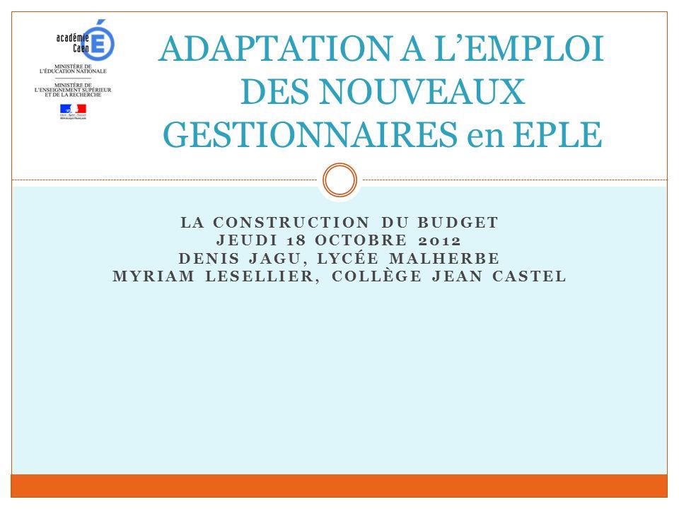 ADAPTATION A L'EMPLOI DES NOUVEAUX GESTIONNAIRES en EPLE