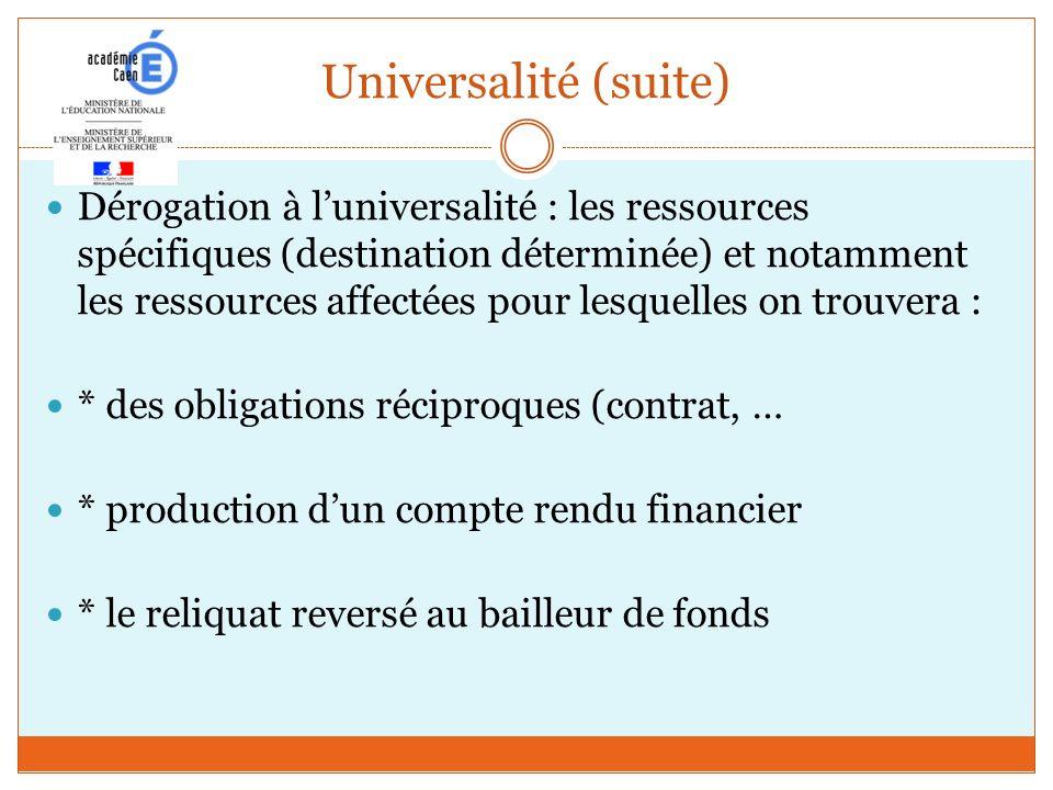 Universalité (suite)