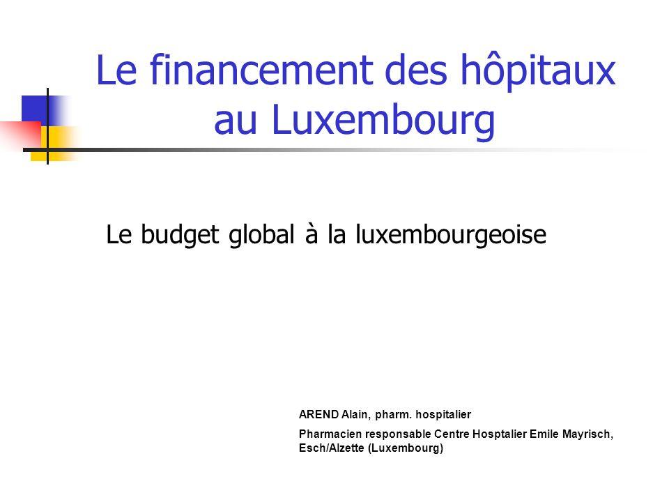 Le financement des hôpitaux au Luxembourg