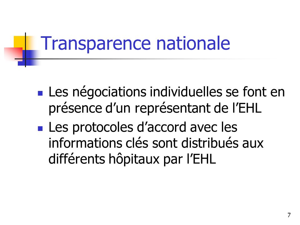 Transparence nationale