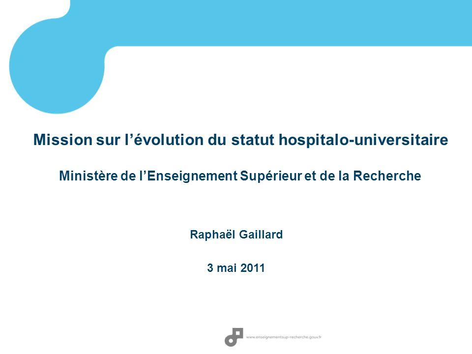 Mission sur l'évolution du statut hospitalo-universitaire