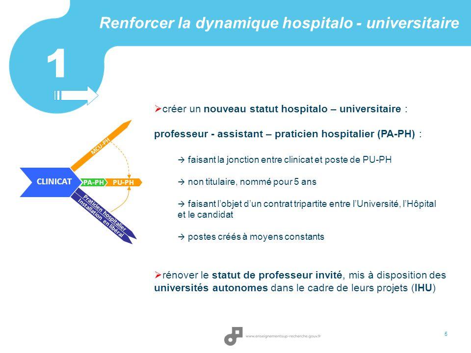 Renforcer la dynamique hospitalo - universitaire