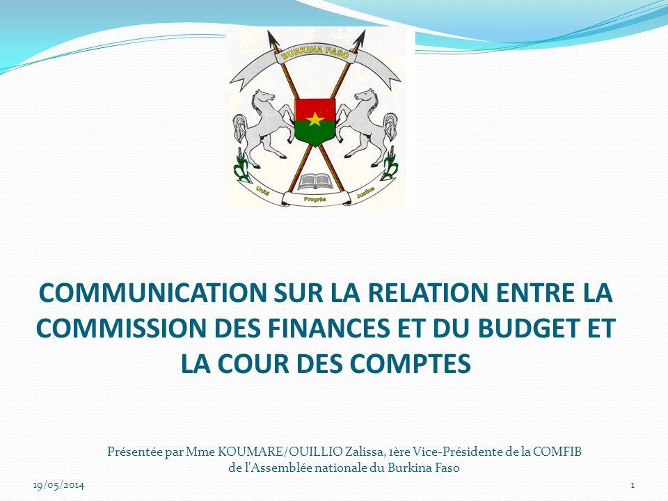 COMMUNICATION SUR LA RELATION ENTRE LA COMMISSION DES FINANCES ET DU BUDGET ET LA COUR DES COMPTES