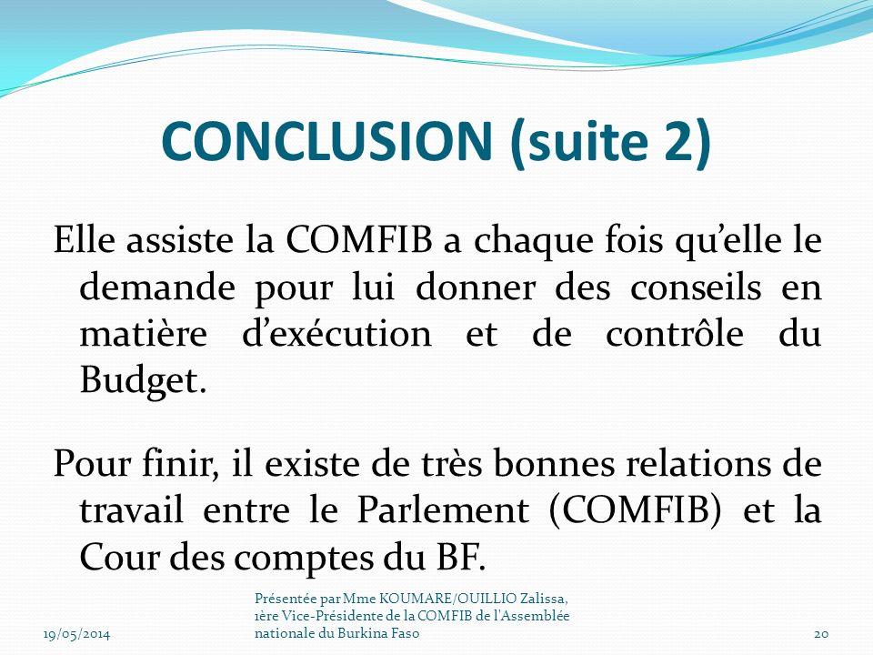 CONCLUSION (suite 2)