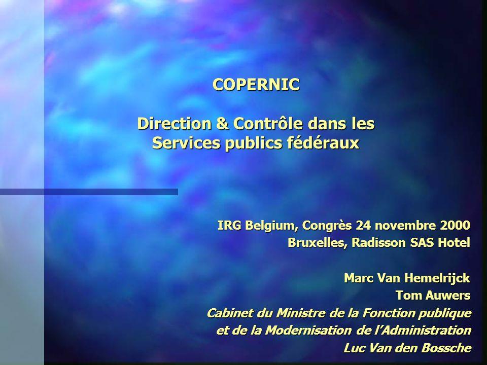 COPERNIC Direction & Contrôle dans les Services publics fédéraux