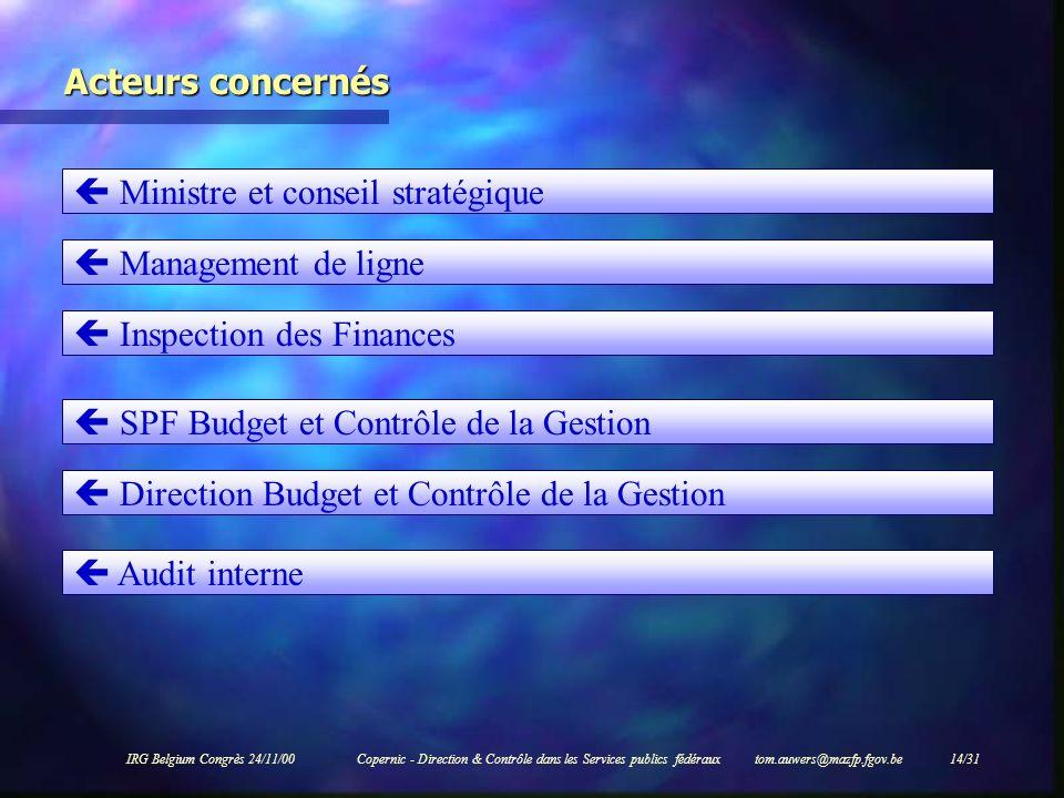  Ministre et conseil stratégique