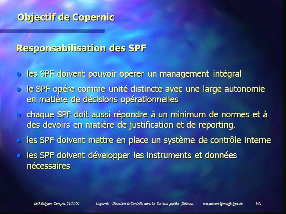 Responsabilisation des SPF