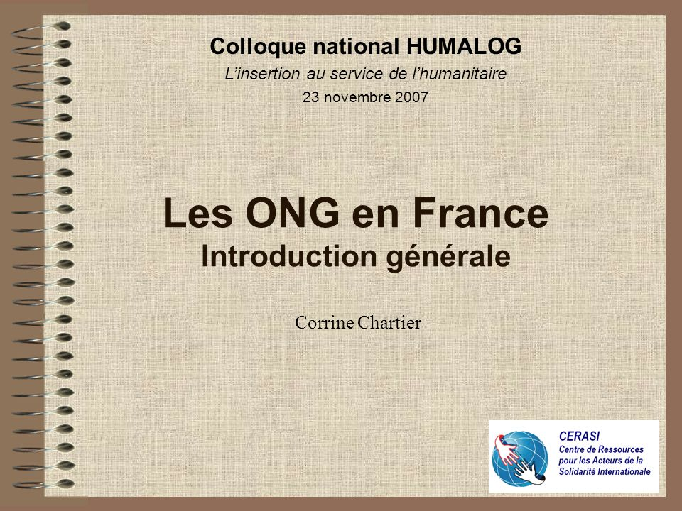 Les ONG en France Introduction générale