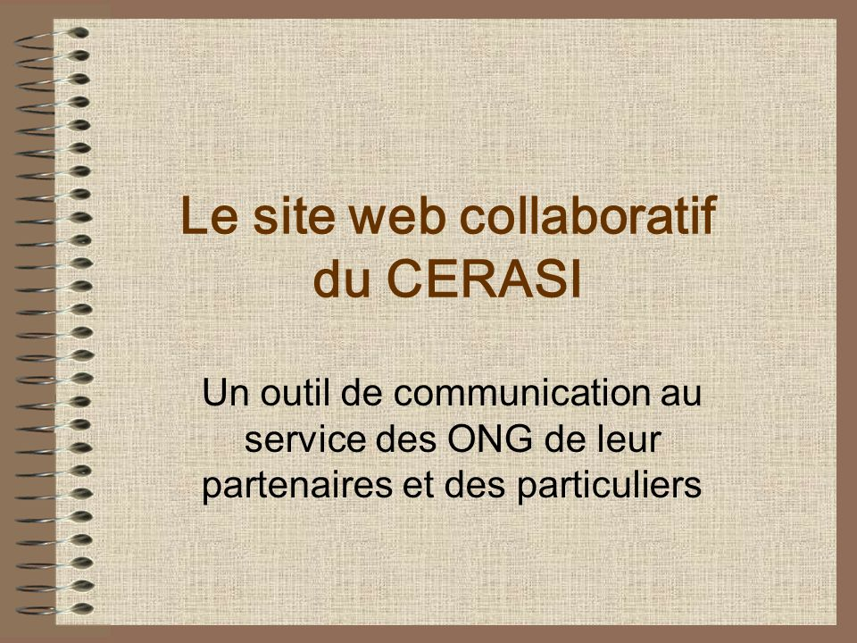 Le site web collaboratif du CERASI
