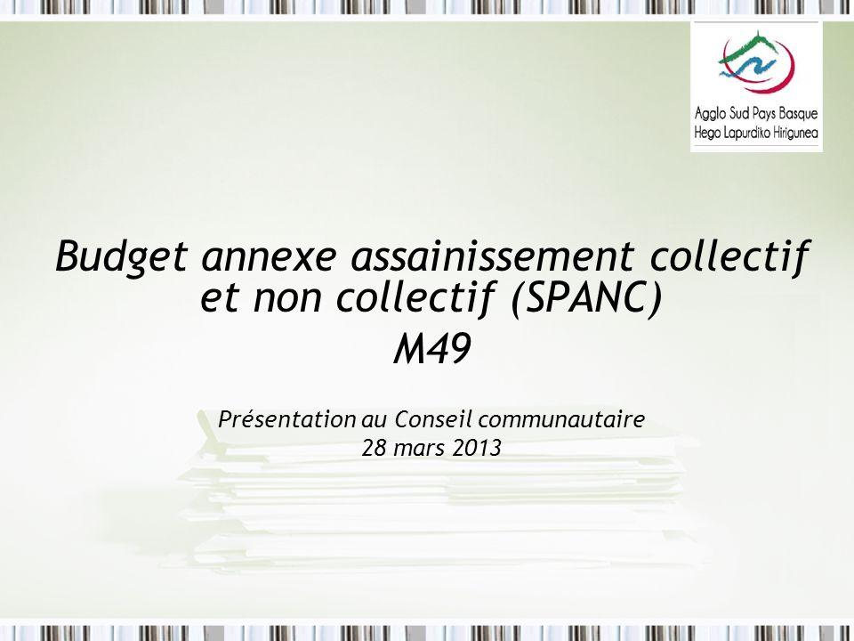 Budget annexe assainissement collectif et non collectif (SPANC) M49