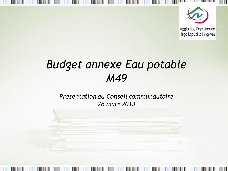 Budget annexe Eau potable M49