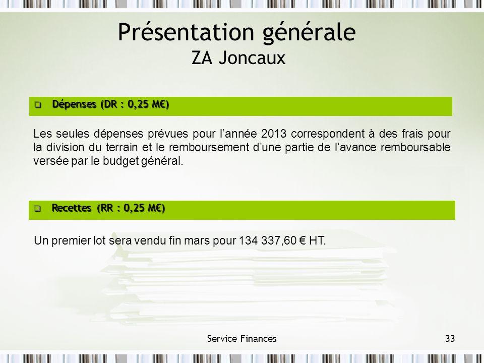 Présentation générale ZA Joncaux