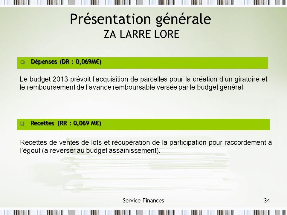 Présentation générale ZA LARRE LORE