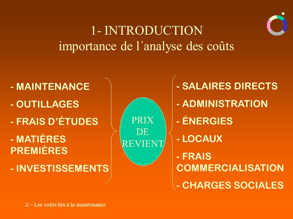 1- INTRODUCTION importance de l´analyse des coûts